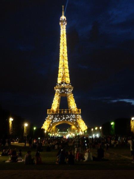 Eiffel Tower lights in Paris