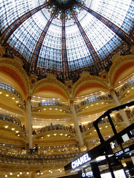galeries Lafayette Paris beautiful intricate details