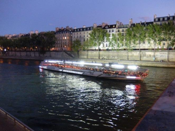 Tourist boat on River Seine