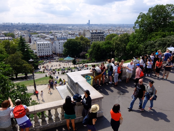 Tourists in Montmartre