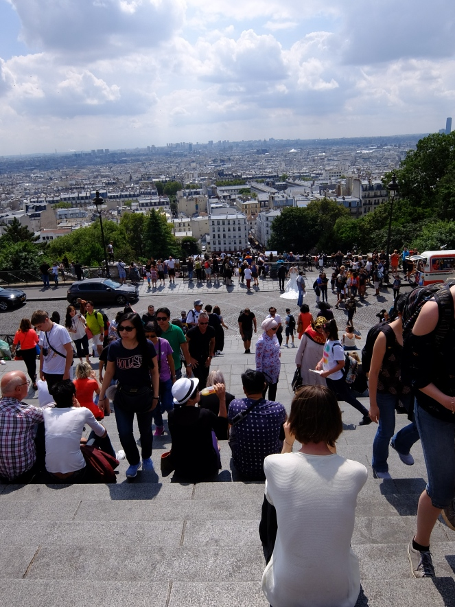 City view of Paris from Montmartre