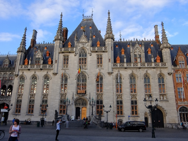Facade of Town Hall Bruges