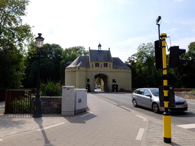 Ancient gate in Bruges Belgium