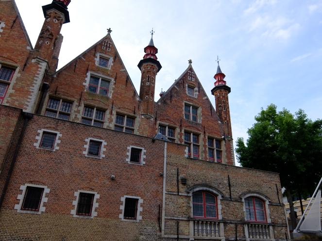 The Half Moon Brewery facade of red brick