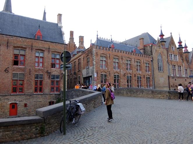 Brick buildings in Bruges