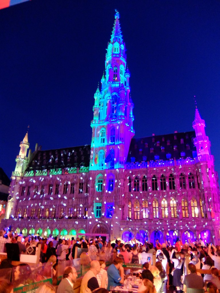 Town Hall of Brussels all lit up