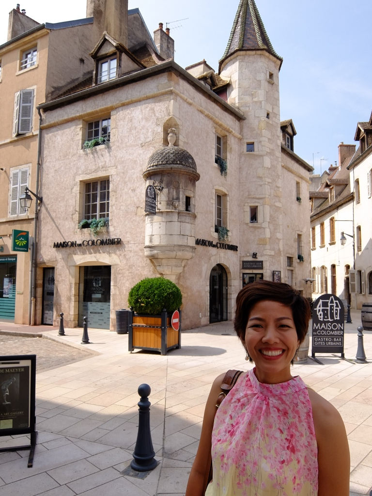 girl in the streets of beaune