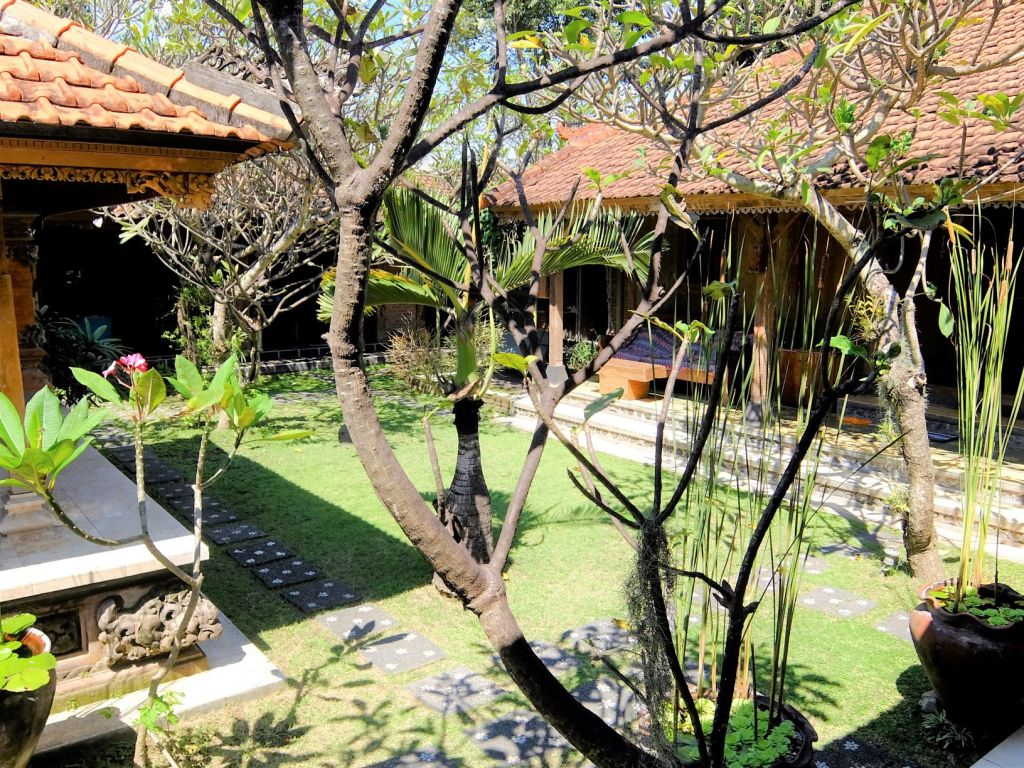 a courtyard in an Indonesian home