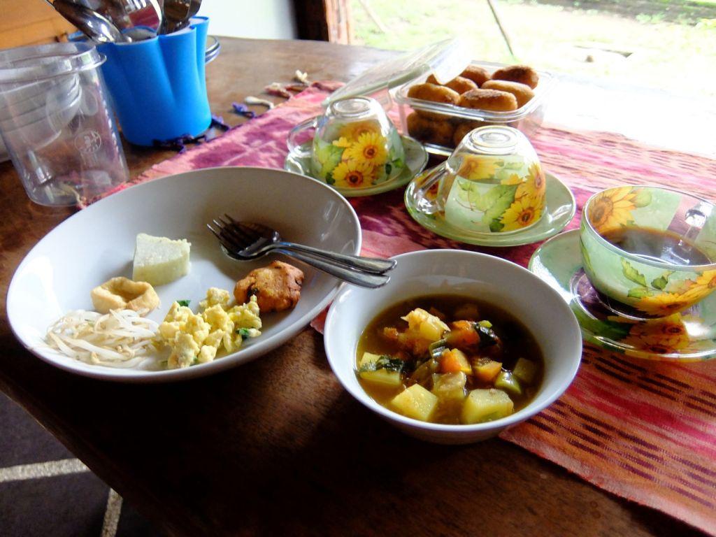 an Indonesian breakfast spread