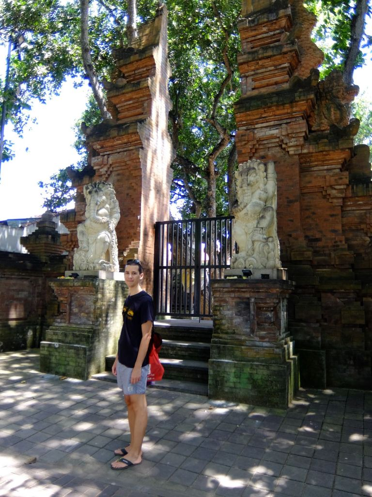 an Indonesian temple entrance