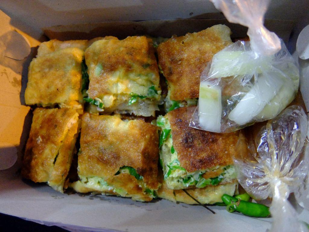 Martabak or savory Indonesian pancake