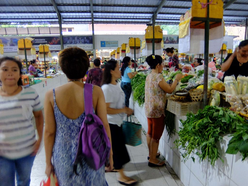 traditional Indonesian produce market