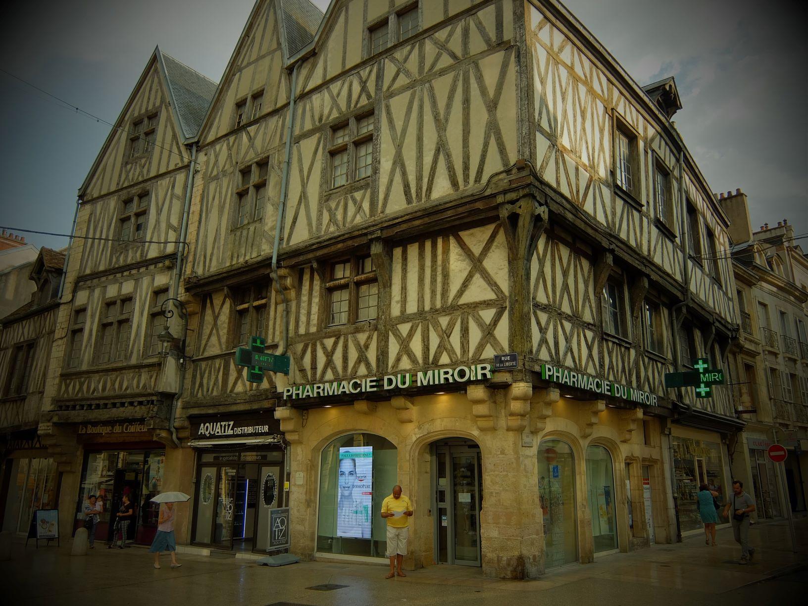 a facade of a Dijon pharmacy