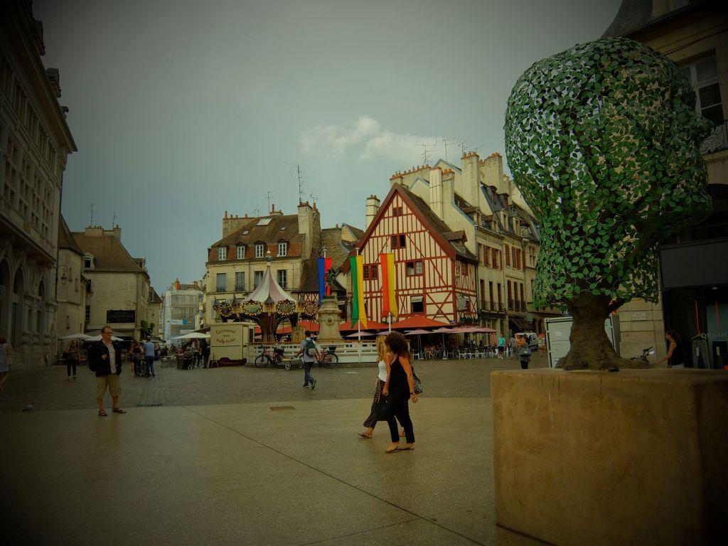 a square in Dijon