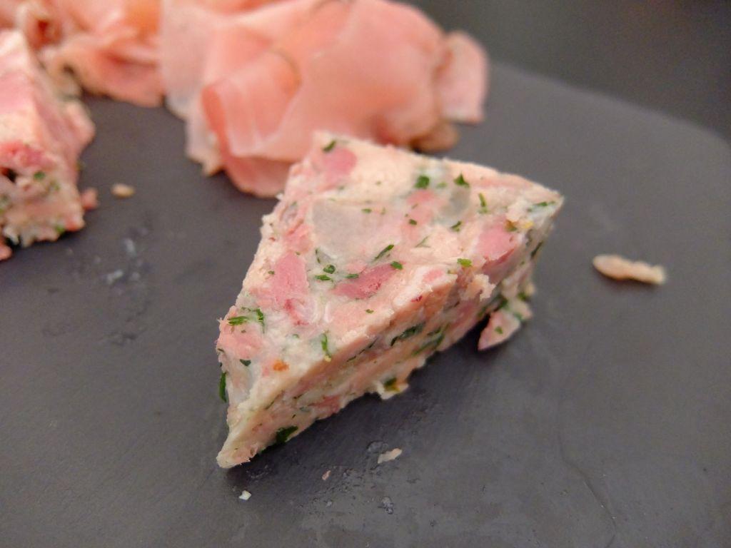 pork rillete slice