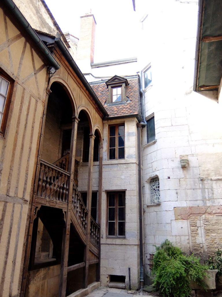 Facades of ancient buildings in Dijon