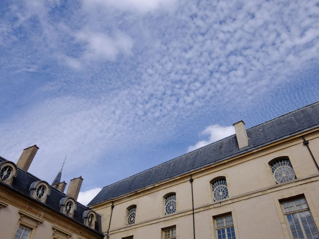 sky above a building in Dijon