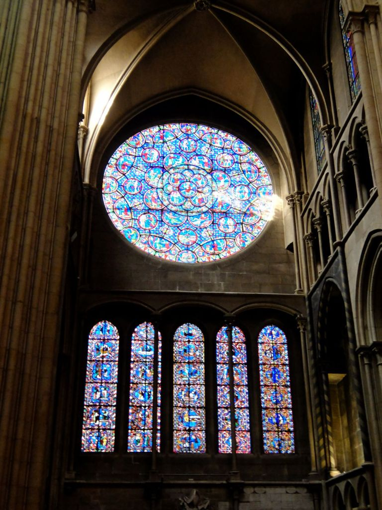 stained glass panels at Dijon cathedral