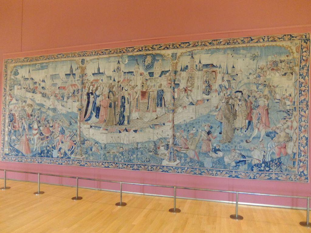 tapestry in a museum in Dijon