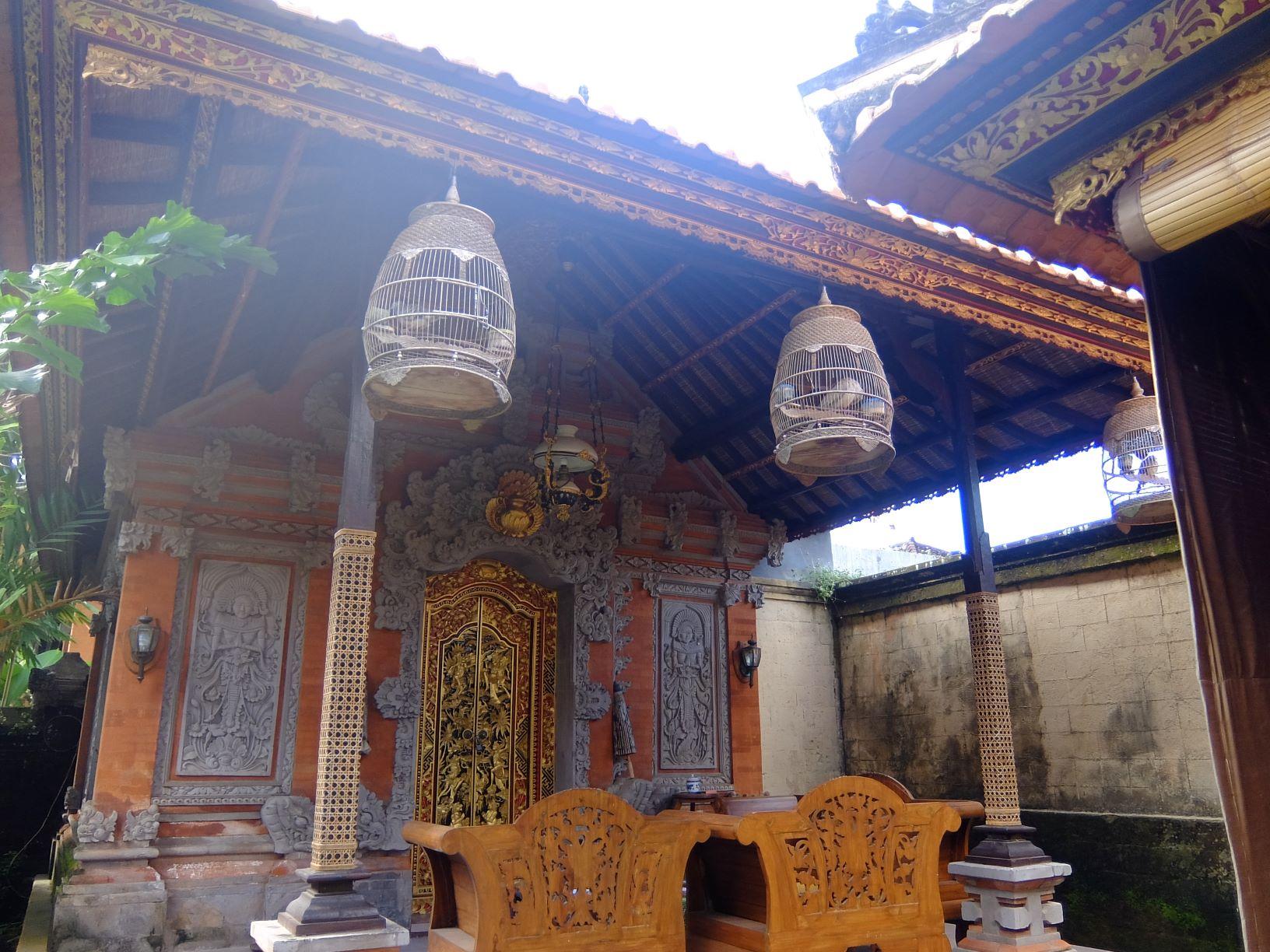 Facade of Balinese villa